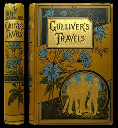 A Turn of the Century Decorative Cloth Publisher Bindings: Gulliver's Travels | Jonathan Swift // IsFive Books