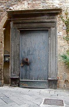 Grey door, Liguria, Italy·