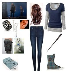 """The prophecy! Lena Black!~"" by selenerose-328 ❤ liked on Polyvore featuring moda, Topshop, Sirius, Selda Okutan, Fat Face, Converse y Dr. Denim"