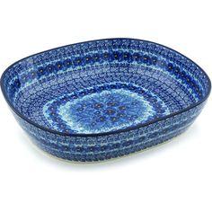 Polish Pottery 14-inch Bowl   Boleslawiec Stoneware   Polmedia H9480G   Polmedia