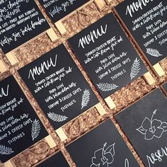 'ello Paper | Custom Wedding Stationery | #tbt to Hayden and Drew's Costa Rican inspired wedding signage! Hand lettering by Type Delight! #handlettering #chalkboard #weddingsignage #costaricanwedding