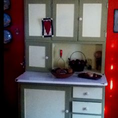 Old hoosier farm cabinet