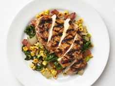 Balsamic Chicken with Corn and Swiss Chard recipe from Food Network Kitchen via Food Network