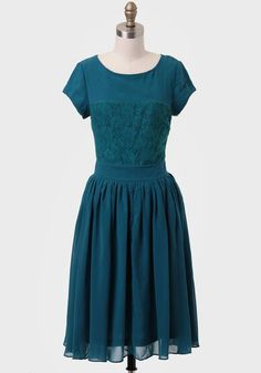 at ruche // teal dress