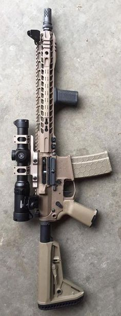 Build Your Sick Custom Assault Rifle Firearm With This Web Interactive Firearm Gun Builder with ALL the Industry Parts - See it yourself before you buy any parts Custom Ar15, Custom Guns, Tactical Rifles, Firearms, Shotguns, Armas Airsoft, Armas Ninja, Gun Vault, Ar Rifle