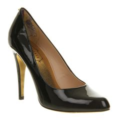Ted Baker JAXINE 3 HIGH HEEL BLACK PATENT Shoes - Womens High Heels Shoes - Office Shoes