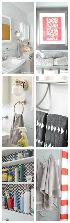 Bathroom cleaning and organizing tips with a fun printable in tons of colors!