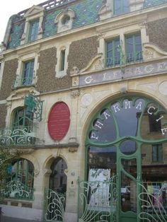 Pharmacie Lesage – 78 rue du général de Gaulle, Douvres-la-Délivrande Architect: Rouvray (1901)  #architecture #artnouveau #France #shop by riczkho