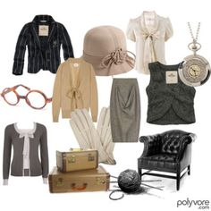 A sample spread of the clothes Miss Marple herself might be found wearing vintage chic, miss marple fashion, marpl style, miss marple style, agatha christi
