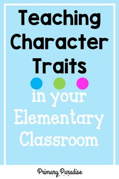 Easy to use tips and ideas for teaching character traits in your first and second grade classroom. Includes book recommendations and free template! Word Work Centers, Math Centers, Teacher Organization, Teacher Hacks, Elementary Teacher, Upper Elementary, Teaching Reading, Teaching Ideas, Teaching Character Traits
