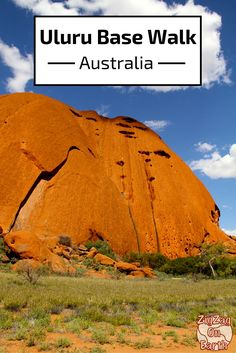 Uluru Base Walk, a classic in the Red Center. Walk along the high wall of this impressive and magical formation - Click to open the guide with many photos and detailed information to plan your visit
