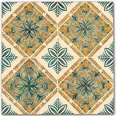 Gand 4 piastrelle ceramica artistica decori dipinti mano.jpg (650×643)