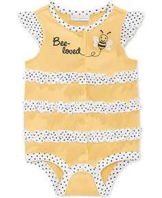 First Impressions Baby Girls' Bee-loved French Creeper, Only at Macy's