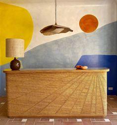 "India Mahdavi on Instagram: ""Best bar in St tropez — collaboration with @ideih — #carolinedenervaud"" Saint Tropez, Bar Set Up, Urban Nature, Cool Bars, Restaurant Design, Decoration, Architecture, Interior Inspiration, Saints"