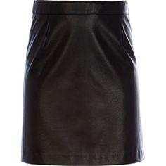 Girls black PU skirt - skirts - girls