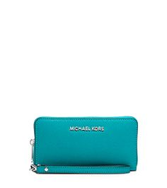 Jet Set Travel Phone Wristlet for iPhone and Samsung by Michael Kors