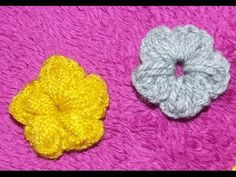 Mica floare crosetata - YouTube