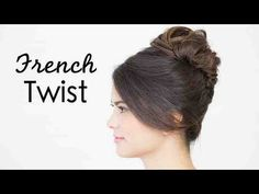 How To Do an Easy French Twist (OMG Theodore is so adorable! Aww! Too awesome!)