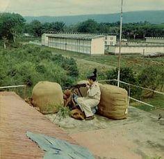 Guardia Civil en Guinea Ecuatorial. Protección de acuartelamiento en marzo de 1969.