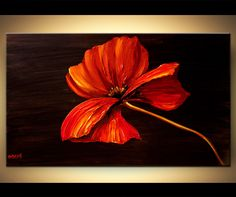 Landscape Painting - Red Blossom #6229