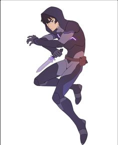 Keith in his Blade of Marmora armor with his knife blade from Voltron Legendary Defender