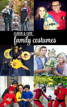 Collection of Clever and Cute Family Halloween Costumes. And they featured two of our family!