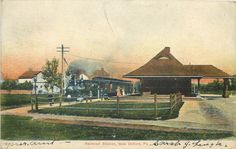 New Oxford PA Adams County Passengers Train at Railroad Station 1907 Postcard | eBay