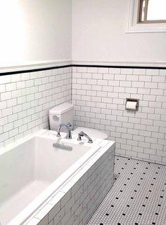 Subway tile and Kohler bath in our remodeled bathroom.