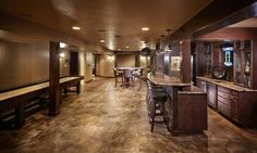 Beautiful acid stained concrete floors.