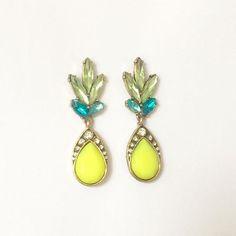 Pineapple Drop Earrings #style #jewelry #trendy #earrings #pineapple