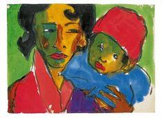 Emil Nolde - Mutter Mit Kind Stammt, 1921