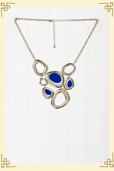 a VERY nice blue and silver necklace