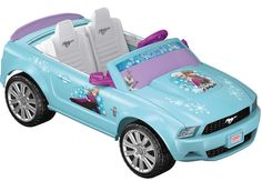 "Power Wheels Power Wheels Battery Toy Ride-On - Disney Frozen Mustang Own the road! Put kids in the driver's seat with the sporty Power Wheels Disney Frozen Ford Mustang. This vehicle features flashy ""chrome"" wheels, realistic dashboard s. Frozen Toys, Fisher Price Toys, Mustang Convertible, Ride On Toys, Baby Alive, Toys R Us, Disney Frozen, Frozen Frozen, Frozen Movie"