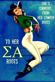 She's Country Sigma Alpha by Molly Lass of SA Upsilon Chapter