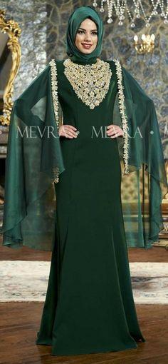 Julide Abiye Elbise Zümrüt Muslim Fashion, Hijab Fashion, Women's Fashion, Elite Fashion, Hijab Styles, Islamic Clothing, Modest Outfits, Western Wear, Gowns