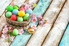 Easter eggs flowers decoration by LiliGraphie on @creativemarket