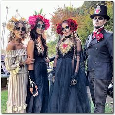 Day of the Dead costumes at Hollywood Cemetery