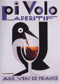 PIVOLO-APERITIF-FRENCH-RED-WINE-BIRD-GOBLET-GLASS-FRANCE-VINTAGE-POSTER-REPRO