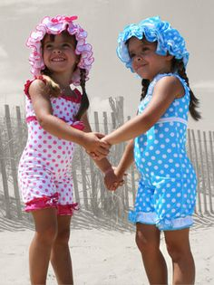 These vintage bathing suits for little girls are precious bringing