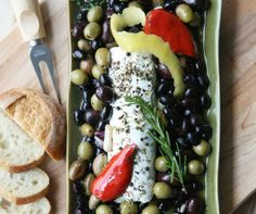 Warm Olives and Chevre from French Mint