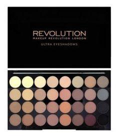 Makeup Revolution 32 Eyeshadow Flawles Matte - Paleta 32 matowych cieni do powiek