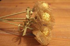 DIY no Chá de Panela: Flor com Ferrero Rocher no Casar.com, onde você encontra Inspirações e Dicas para seu Casamento feito por quem mais entende do assunto