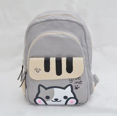 4ce88159e944 Neko Atsume Cat Backyard Anime Multifunctional Shoulder Bag School Backpack  U in Collectables