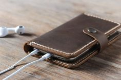 leather iphone wallet case with strap