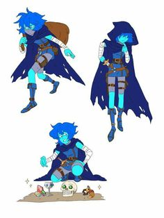Lapiz lazuli as a rouge/thief Steven Universe Lapidot, Steven Universe Comic, Character Inspiration, Character Art, Character Design, Fantasy, Cartoon Network, Universe Art, Sketches