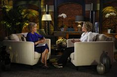 Andrea Mitchell interviews former Secretary of State Hillary Clinton on Sep. 4, 2015.