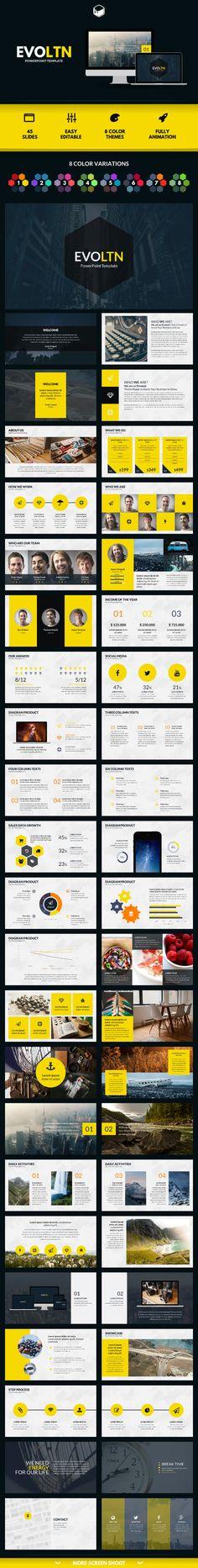 PowerPoint Template #design Download: http://graphicriver.net/item/evoltn-powerpoint-template/11823375?ref=ksioks
