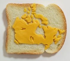 This is about an artist that uses a very unusual medium for his art, he create pieces made form sandwiches.