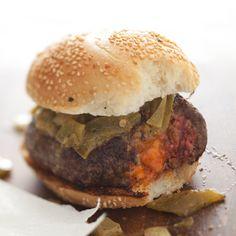 Pimento Cheese-Stuffed Burgers //  Great 30-Minute Burgers: www.foodandwine.com/slideshows/30-minute-burgers/1 #foodandwine