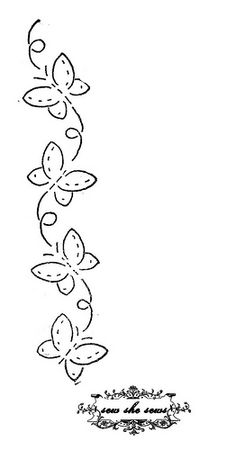 vintage butterflies embroidery pattern | For personal use. | By: joomoolynn | Flickr - Photo Sharing!
